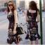 Lady Ribbon Online เสื้อผ้าออนไลน์ขายส่ง very very pretty เสื้อผ้า VP04140816 Smart Casual Polka Dot Print Sleeveless Dress thumbnail 2