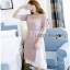 Lady Ribbon Jane Pure Elegant Pink Lace Over Pleated Chiffon Dress thumbnail 3
