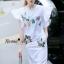NA03290816 &#x1F389Normal Ally Present embroiders autumn collection dress&#x1F389 (เดรสผ้ายืด, ปักเลื่อมสลับสี) thumbnail 3
