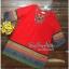 Lady Ribbon Online ขายส่งเสื้อผ้าออนไลน์ Very very pretty VP05030816 Bohemian Red-Chiffon Colorful beads Embroidery Blouse thumbnail 4