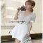 White Lace and Crepe Mini Dress Lady Ribbon มินิเดรส thumbnail 2
