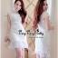 Lady Ribbon Online เสื้อผ้าแฟชั่นออนไลน์ขายส่ง เลดี้ริบบอนของแท้พร้อมส่ง Veryverypreppy เสื้อผ้า VP05240716 Florals White Elegance Korea Dress thumbnail 3