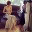 Lady Ribbon Online ขายส่งเสื้อผ้าออนไลน์ เสื้อผ้า Sevy SV08030816 &#x1F389Sevy Strapless Mermaid Tail Midi Dress thumbnail 2