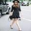 Normal Ally Present Paris Eiffel brooch strip dress thumbnail 6