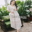 Lady Ribbon Chic Ivory Lace Maxi Dress thumbnail 1