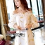 Gold Feather Embroidered Organza Dress เดรสผ้าแก้ว thumbnail 5
