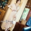 ผ้าทอลายไหมพรมเกาหลี กระโปรงอีดพีท thumbnail 4