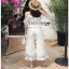 White Cotton and Lace Lady Ribbon Culottes กางเกงผ้าคอตตอน thumbnail 4