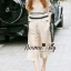 Lady Ribbon Online เสื้อผ้าออนไลน์ขายส่ง Normal Ally เสื้อผ้า,NA08220816 &#x1F389Normal Ally Present new collection boutique pendulum striped linen shirt wide leg pants set&#x1F389 (เสื้อ + กางเกง) thumbnail 3