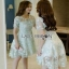 Grace Pastel Flower Lace Dress Lady Ribbon เดรสผ้าลูกไม้ thumbnail 4