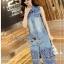 Laser-Cut Denim Shirt Dress เชิ้ตเดรสผ้าเดนิมปักและฉลุลาย thumbnail 6