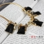 AG1711 - สร้อยหิน สร้อยคอ สร้อยหินนำโชค เครื่องประดับ big geometric necklace collarbone chain thumbnail 1