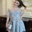 Lady Ribbon Butterfly Pastel Lace Mini Dress thumbnail 4