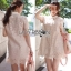 Lady Feona Feminine Collared Lace Shirt Dress thumbnail 1