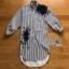 Lady ribbon Flower Embroidered Striped Shirt เชิ้ตแขนยาวลายทาง thumbnail 7