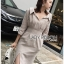 Cotton Shirt Dress Lady Ribbon ขายเชิ้ตเดรส thumbnail 4