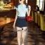 Lady Ribbon Online เสื้อผ้าออนไลน์ขายส่ง Normal Ally เสื้อผ้า,NA05220816 &#x1F389Normal Ally Present flower lace decorate shirt and pant set&#x1F389 (เสื้อแต่งลูกไม้บ่า+กางเกงกระโปรงแต่งเชือกเปียเอว) thumbnail 5