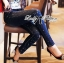 Lady Ribbon Online ขายส่งเสื้อผ้าออนไลน์ ขายส่งของแท้พร้อมส่ง Lady Ribbon LR17250716 &#x1F380 Lady Ribbon's Made &#x1F380 Lady Kim Skinny Jeans with Crystal Embellished thumbnail 2