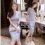 Lady Ribbon Online เสื้อผ้าแฟชั่นออนไลน์ขายส่ง เลดี้ริบบอนของแท้พร้อมส่ง Veryverypreppy เสื้อผ้า VP02240716 Luxury Classic Vintage Lace Long Dress thumbnail 2