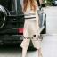 Lady Ribbon Online เสื้อผ้าออนไลน์ขายส่ง Normal Ally เสื้อผ้า,NA08220816 &#x1F389Normal Ally Present new collection boutique pendulum striped linen shirt wide leg pants set&#x1F389 (เสื้อ + กางเกง) thumbnail 4