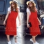 Glass Long Strip Skirt Set - เซ็ตเอี๊ยมสีแดงสด thumbnail 1