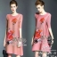 Dressเสื้อผ้าแฟชั่นเกาหลี Dressมินิเดรสลุคเก๋ๆ เนื้อผ้าเกรดดีอัด ย่นยืดหยุ่น thumbnail 1