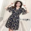 Lady Ribbon Nasha Mixed Wild Floral Printed Chiffon Ruffle Dress เดรสผ้าชีฟอง thumbnail 5