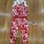 Lady Ribbon Red Floral Printed Collared Top and Pants Set เซ็ตเสื้อและกางเกงขายาว thumbnail 6