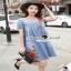 ชุดเดรสเกาหลีทรงปล่อยๆ มีดีเทลสวยๆ ด้วยงานเย็บแต่งเป็นจีบ thumbnail 4