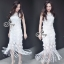 Sevy Fabulous Valentino Lace Sleeveless Tassel Midi Dress thumbnail 1