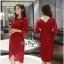 Slim Dress แฟชั่นเกาหลีเดรสผ้าลูกไม้ thumbnail 1