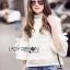 Lady Ribbon White Lace Blouse เสื้อผ้าลูกไม้ thumbnail 2