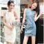Lady Ribbon Denim Mini Dress มินิเดรส thumbnail 1