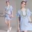 NA14010916 &#x1F389 Normal Ally Present embroider Bohemian pompom Style dress&#x1F389 (เดรสปักทั้งชุด แต่งตุ้มสีๆ) thumbnail 1