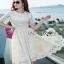 Lady Ribbon Nasha Sweet Classic White Lace Dress with Belt thumbnail 5