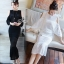 Lady Ribbon ออนไลน์ เสื้อผ้าออนไลน์ พร้อมส่งของแท้ SV03130716 &#x1F389Sevy Two Pieces Of Hollow Knit Blouse With Skirt Sets thumbnail 1