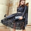 long dress ผ้าซาติน เสื้อผ้าแฟชั่น เสื้อผ้าแฟชั่นเกาหลี Cliona thumbnail 2