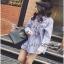 Lady Ribbon Cotton Shirt เชิ้ตลายทางสีฟ้าปักลายดอกไม้ thumbnail 6