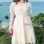 Lady Ribbon Nasha Sweet Classic White Lace Dress with Belt thumbnail 3