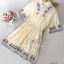 Cream Color Sweet Vintage Dress thumbnail 6