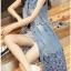 Lady Ribbon Online ขายส่งเสื้อผ้าออนไลน์ ขายส่งของแท้พร้อมส่ง Lady Ribbon LR05250716 &#x1F380 Lady Ribbon's Made &#x1F380 Lady Shannon Embroidered and Laser-Cut Denim Shirt Dress thumbnail 3