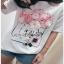 White CHANEL T-Shirt Lady Ribbon ทีเชิ้ตสีขาว thumbnail 4
