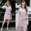 Lady Ribbon Online เสื้อผ้าออนไลน์ ขายส่ง normal ของแท้ NA08140716 &#x1F389Normal Ally Present embroider crystal neck elegant dress thumbnail 1