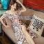 Lady Ribbon Flower Embroidered Dress ขายเดรสทอลาย thumbnail 1