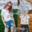 Lady Ribbon Ronnie Casual Denim Short Jeans Set thumbnail 1