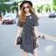 Lady Ribbon Online เสื้อผ้าออนไลน์ขายส่ง Normal Ally เสื้อผ้า,NA13220816 &#x1F389Normal Ally Present Boutique new autumn collection dress and Dimond and pearl brooch&#x1F389 (เดรส + เข็มกลัดเพชรเกสรไข่มุก, มีซับในอย่างดี, มีเชือกเข็มขัด) thumbnail 3