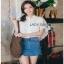 Lady Ribbon Lace and Chiffon Shirt ขายส่งเชิ้ตผ้าชีฟอง thumbnail 1