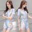 Lady Ribbon ออนไลน์ เสื้อผ้าออนไลน์ พร้อมส่งของแท้ SV07130716 &#x1F389Sevy Two Pieces Of Nail Design Blouse with Shorts Sets thumbnail 2