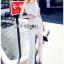 Lady Ribbon Plain Lace Jumpsuit จัมป์สูทขายาว thumbnail 3