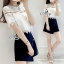 Sevy Two Pieces Of Lace Blouse With Oblique Shorts Sets thumbnail 2